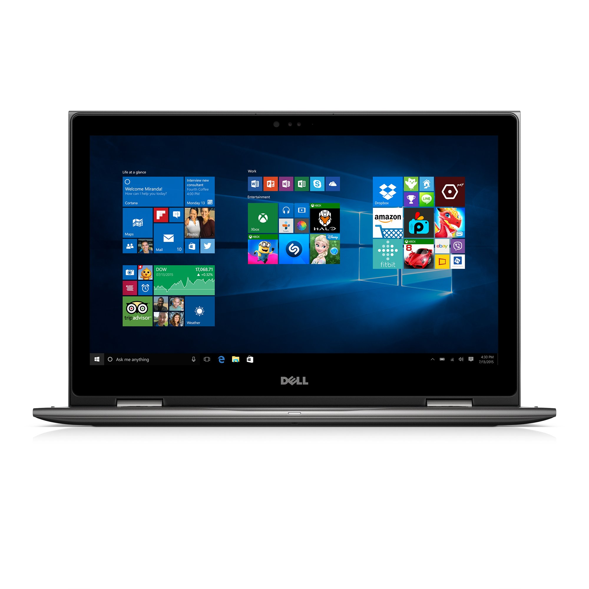 Dell Inspiron i5578-2550GRY 15.6'' FHD 2-In-1 Laptop (7th Generation Intel Core i7, 8GB, 1TB HDD) Microsoft Signature Image