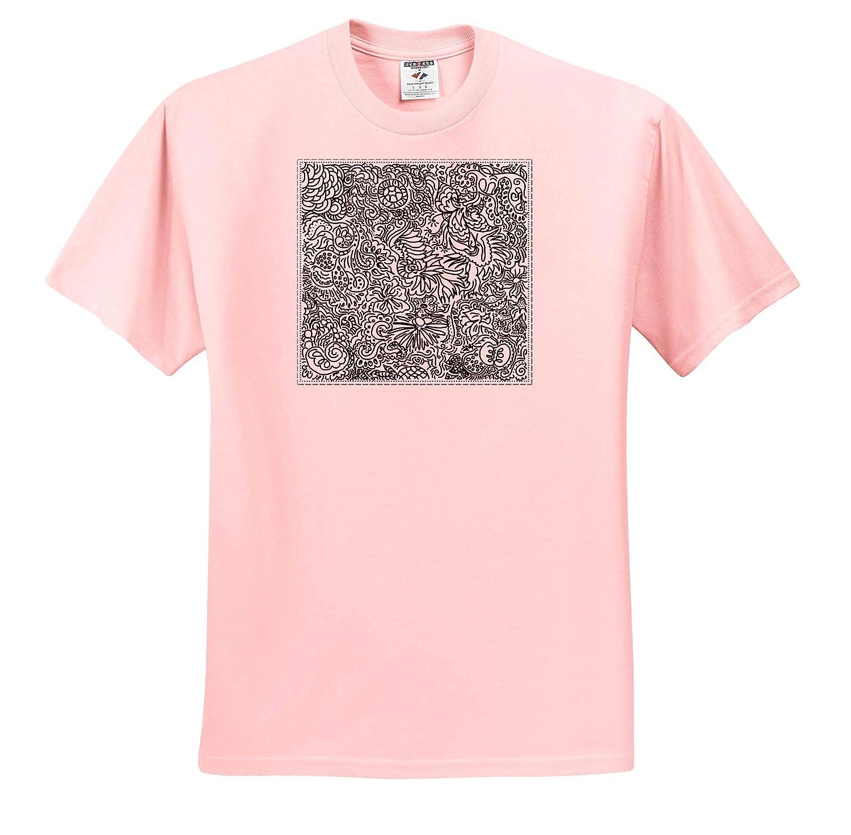 Pattern 3dRose Warya - Pattern On Black and White T-Shirts