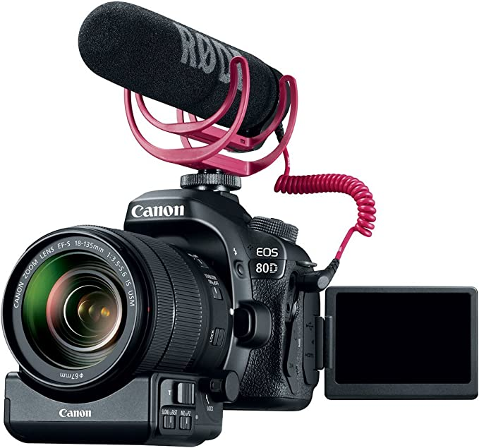 Canon Eos 80d Video Creator Kit Mit Ef S 18 135 Mm Is Kamera