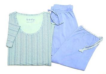 begrenzter Stil stylistisches Aussehen Genieße den reduzierten Preis Tchibo TCM Damen Schlafanzug mit 3/4 Hose Blau-Mint: Amazon ...