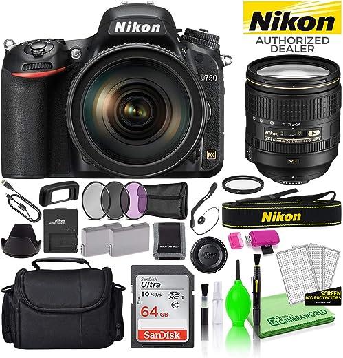 Nikon D750 24.3MP DSLR Digital Camera with 24-120mm VR Lens (1549) USA...