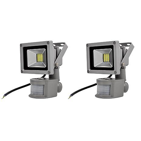 1b14520fc4e0d 2X 20W Waterproof IP65 Aluminum Outdoor Spotlight SMD LED Floodlight With  PIR Sensor Flood Light Lamp