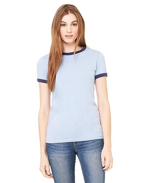 2e286c3e Bella + Canvas Womens Jersey Short-Sleeve Ringer T-Shirt (B6050 ...
