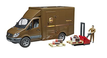 Bruder 02538 MB Sprinter UPS Truck with Driver & Accessories Vehicles - Toys