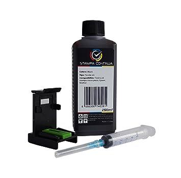 Кit carga cartuchos HP nº 301 negros, tinta Impresion Continua 250ml de alta calidad + Recambio clips