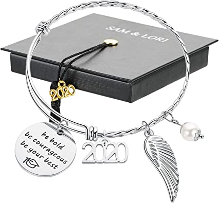 High School College Graduation Gifts Class of 2020 Senior 2020 Gifts Funny Inspirational Graduation Bracelet M MOOHAM 2020 Graduation Gifts for Her Him