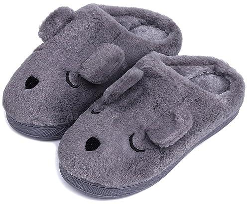UIESUN Unisex Doggy Toddler Little Kids Slipper Winter Shoes Bedroom Indoor House Slipper   B074PMQ9VX