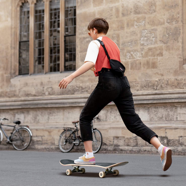 80 x 19 cm Skateboard Imprim/ée Amusante 78,7 x 20,3 cm Skateboard Complet Cruiser Skateboard Double Kick Concave Planche en /Érable Canadien /à 7 Couches streakboard Planche /à Roulette
