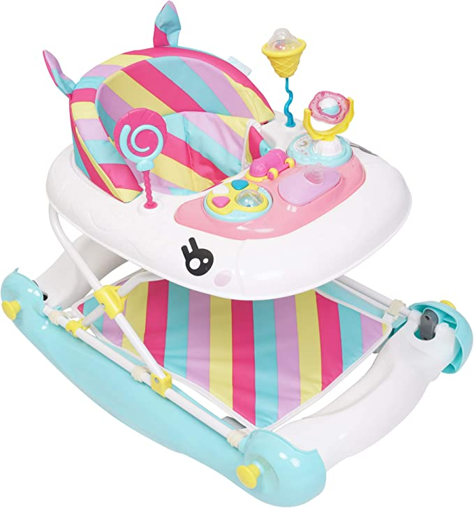 MyChild Unicorn 2 In 1 Walker Rocker, Pink Rainbow