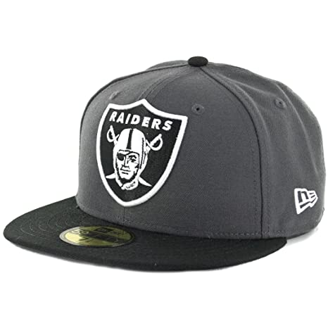 1647626af Image Unavailable. Image not available for. Color  New Era 59Fifty Oakland  Raiders Fitted Hat (Dark Graphite-Black) NFL Men s Cap