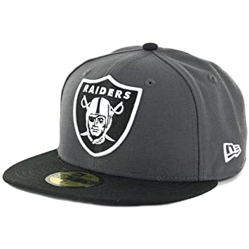 cc93f166eb4 Amazon.com   New Era 59Fifty Oakland Raiders Fitted Hat (Dark  Graphite-Black) NFL Men s Cap   Sports   Outdoors
