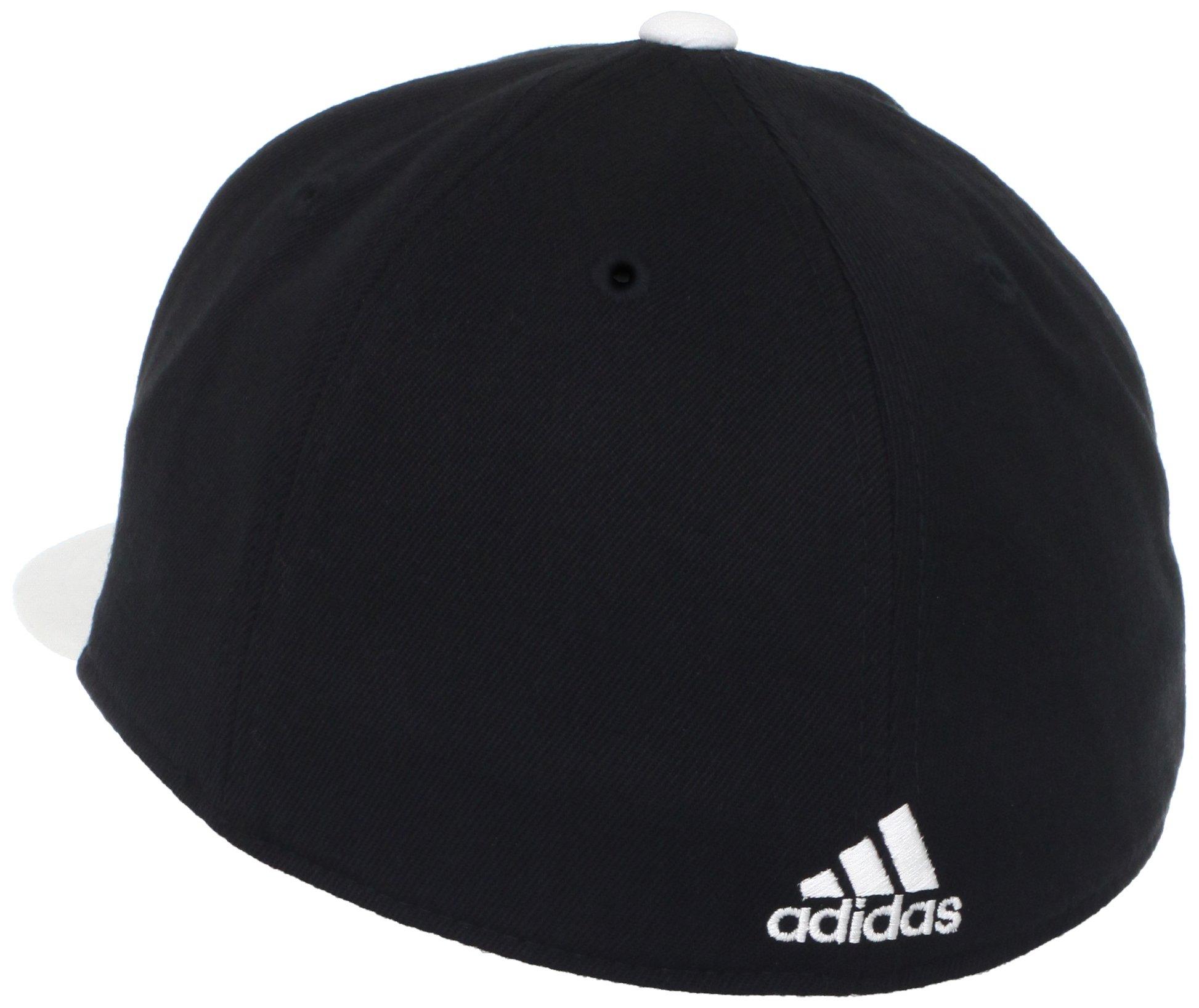adidas NBA Brooklyn Nets Flat Brim Flex Fit Wool Hat, Large/X-Large