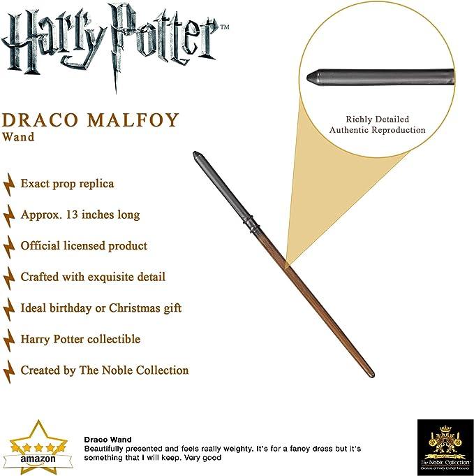 The Noble Collection Draco Malfoy Varita (Caja de Ventana)