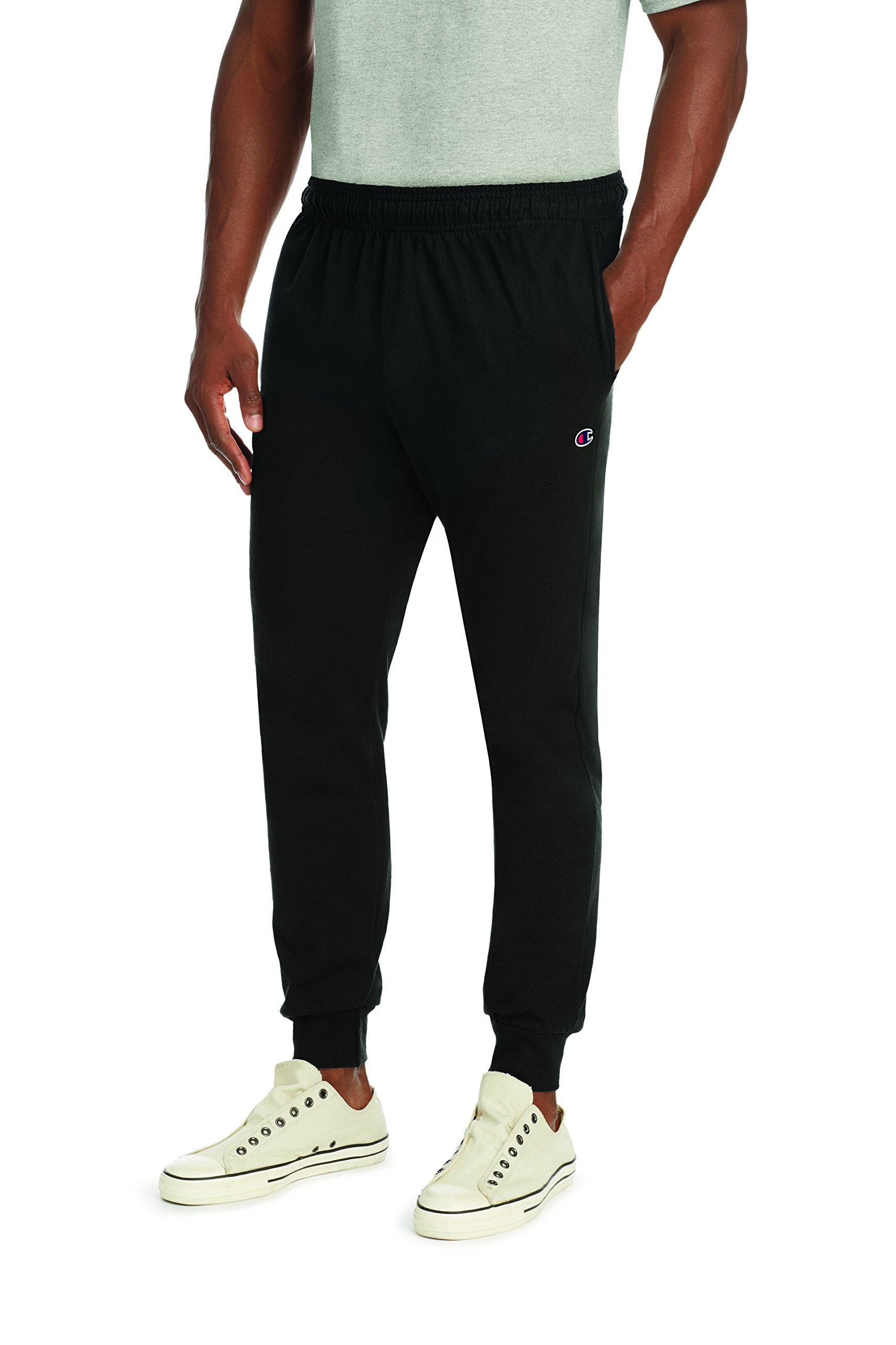 Champion Men's Jersey Jogger, Black, M by Champion