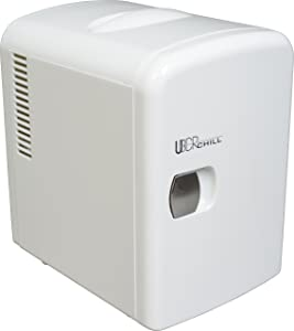 Uber Appliance UB-CH1 Uber Chill 6 Can Retro Personal Mini Fridge (White)
