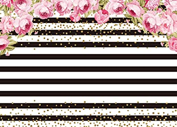 Amazon Com Black And White Stripe Backdrop For Pictures Photo