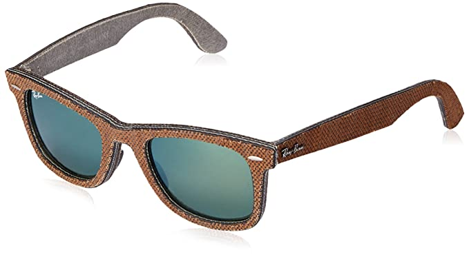Ray-Ban MOD. 2140, Gafas de Sol Unisex, Multicolor (Top Osaka Brown On Jeans Grey), 50 mm