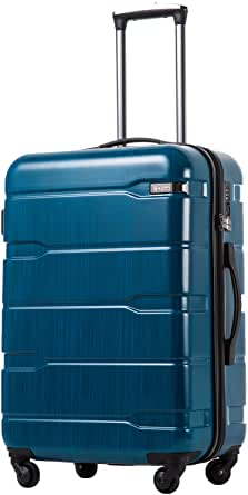 """Coolife Luggage Expandable(only 28"""") Suitcase PC+ABS Spinner Built-In TSA lock 20in 24in 28in Carry on"""