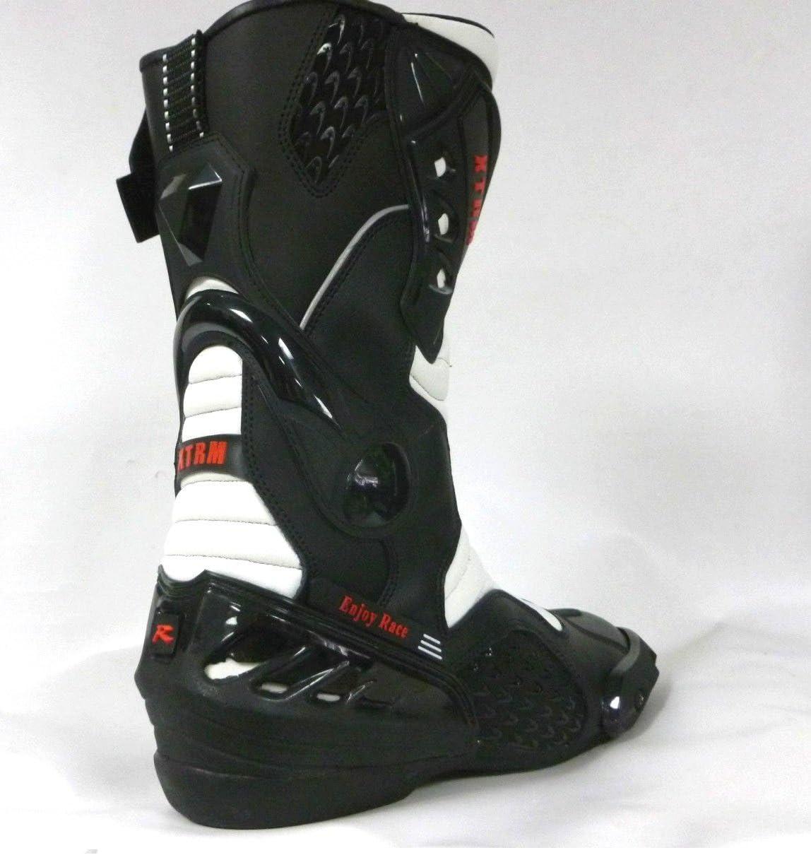 Bottes de Moto XTRM Core Adulte Bottes Hommes /& Femmes Scooter Quad Rider sur Route Course Tournee Sport Armure de certifie CE Bottes Longues