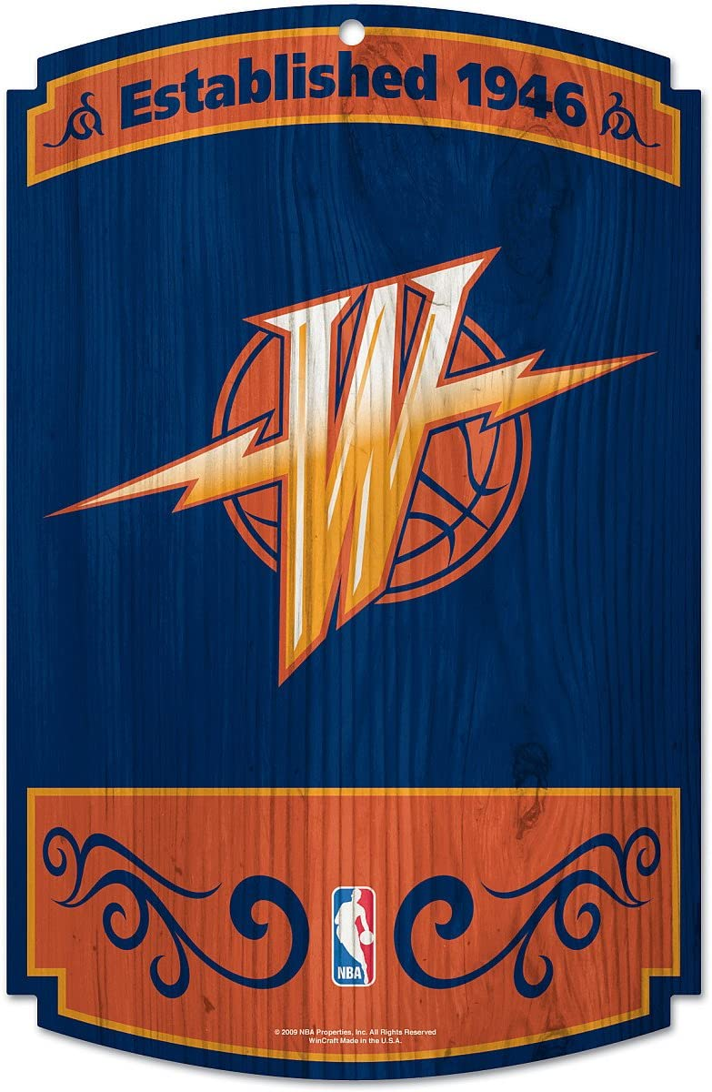 WinCraft NBA Golden State Warriors 72519010 Wood Sign, 11