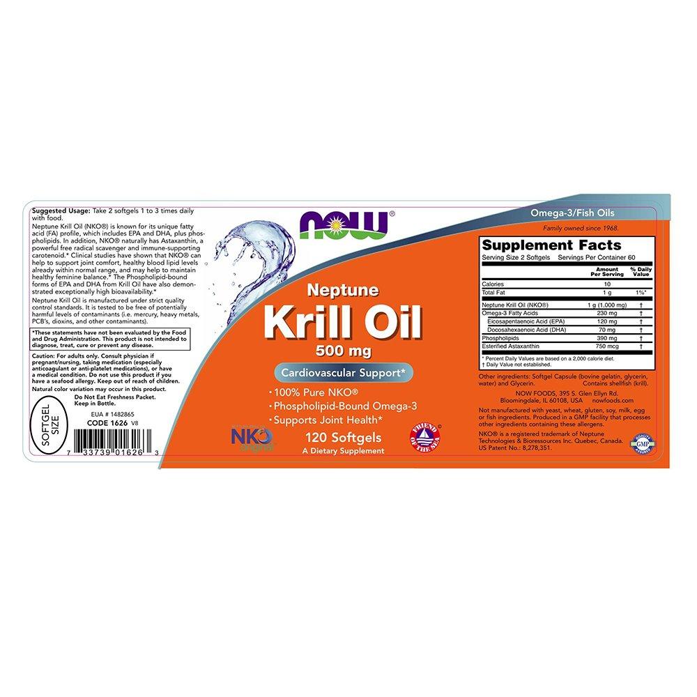 NOW Neptune Krill Oil Softgels Image 2