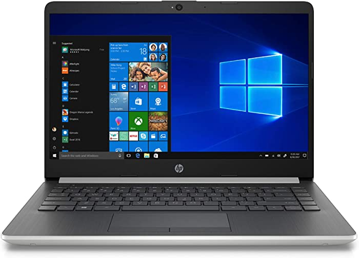 """2020 HP 14"""" Laptop Computer/ Intel Celeron N4000 up to 2.6GHz/ 4GB DDR4 RAM/ 64GB eMMC/ 802.11ac WiFi/ Bluetooth 4.2/ Intel UHD Graphics 605/ Office 365 Personal 1-Year/ Natural Silver/ Windows 10"""