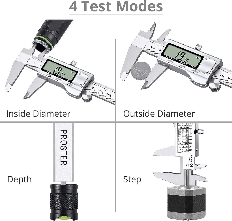 "200mm 8/"" Digital Vernier Caliper Stainless Steel  Electronic Ruler Gauge Meter"