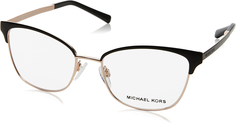 Amazon Com Michael Kors Adrianna Iv Mk3012 Eyeglass Frames 1113 51 Black Rose Gold Clothing