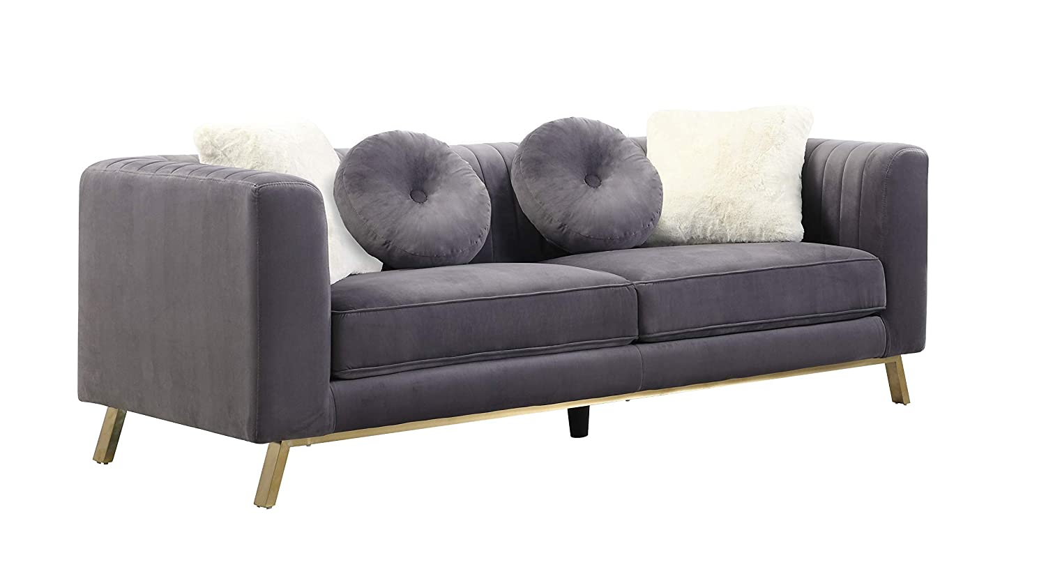 Amazon.com: Best Quality Furniture S450-S Sofa Only, Gray ...