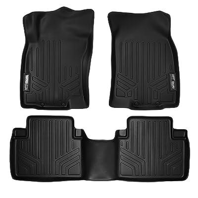MAXLINER Custom Fit Floor Mats 2 Row Liner Set Black for 2014-2020 Nissan Rogue (No Rogue Sport or Select Models): Automotive