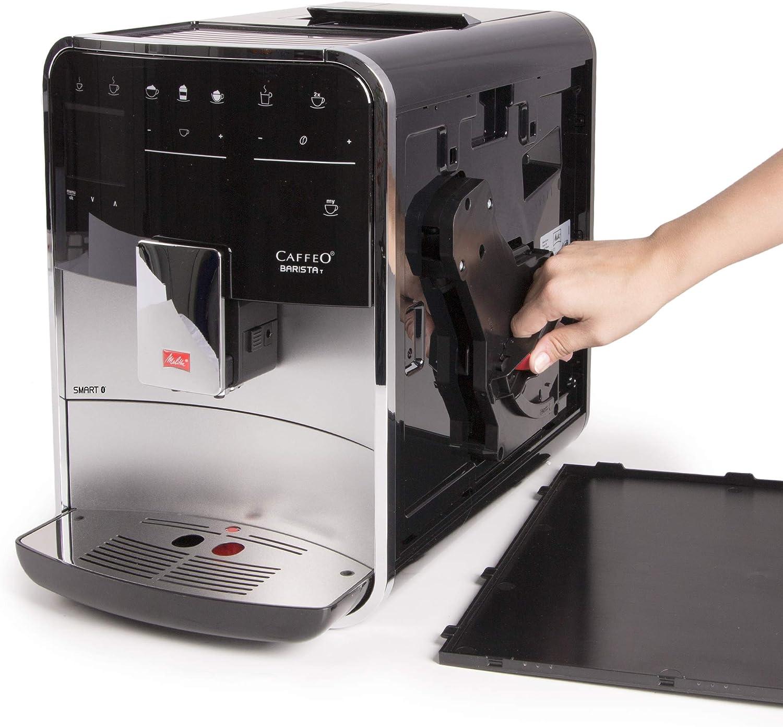 Melitta Caffeo Basista T Smart F831-101, Cafetera Superautomática, Molinillo Silencioso, Pantalla Táctil, 18 Recetas Predefinidas, Contenedor de Leche Externo, Plata: Amazon.es: Hogar