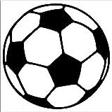 """Soccer Ball - Football - Car, Truck, Notebook, Vinyl Decal Sticker #2638 (5.5"""", Black)"""