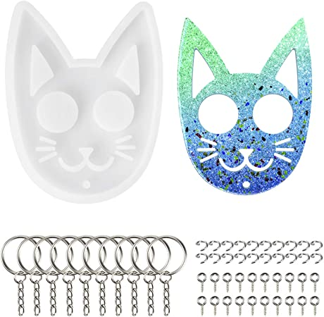 Cartoon Resin Casting Silicone Mold Epoxy Shiny Keychains Pendant Jewelry Craft