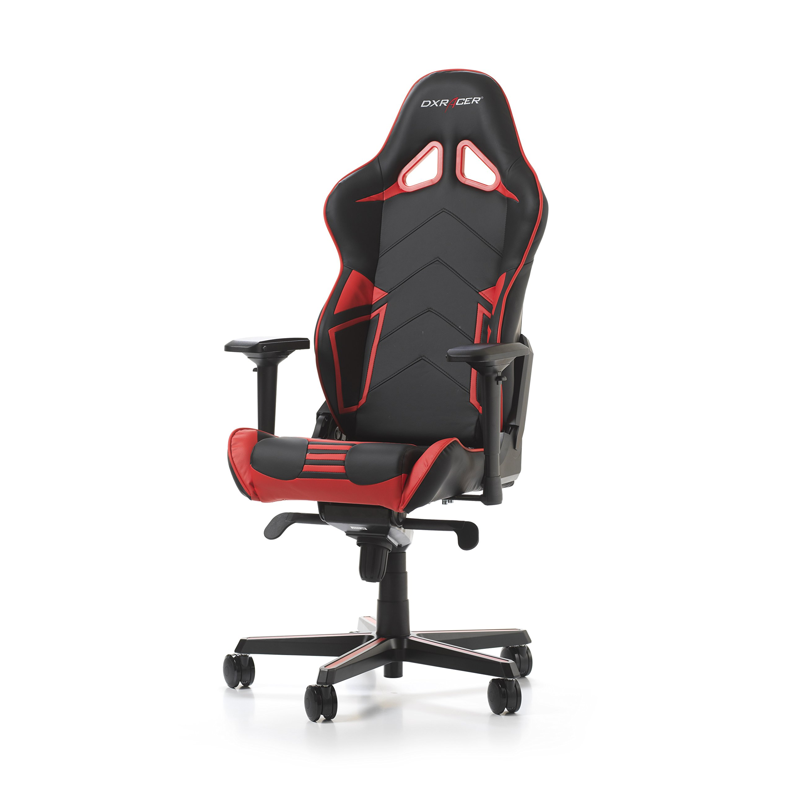 DXRacer Racing Series OH/RV131/NR Racing Seat Office Chair Gaming Ergonomic adjustable Computer Chair with - Included Head and Lumbar Support Pillows (Black / Red)