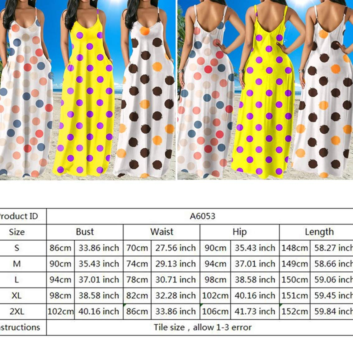 Maxi Beach Dresses for Women - Off Shoulder Bandage Basic Sundress Midi Overall Dress with Pockets White XL