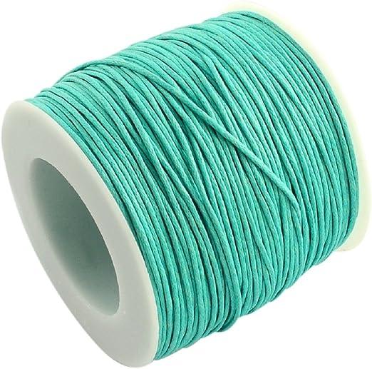 La attrape-rêve cordón azul turquesa (algodón encerado, grosor 1 ...