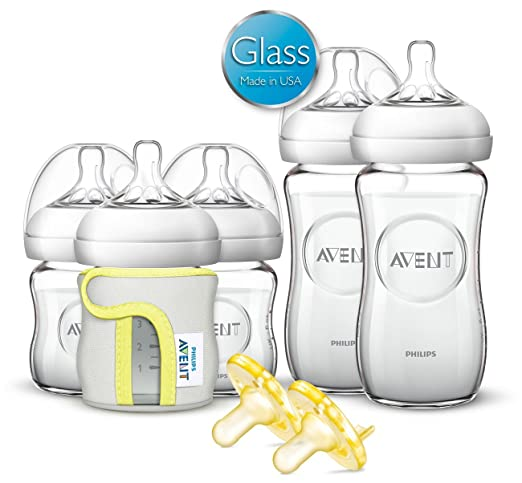 Philips Avent Natural Glass Baby Bottle Gift Set 1