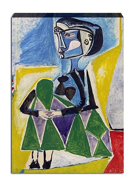 Quadri Moderni Pablo Picasso Ritratto Jacqueline Stampa su Tela Canvas XXL  Soggiorno (70x50 cm)