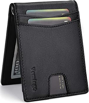 Vemingo Minimalist Slim Genuine Leather Bifold Men's Wallet
