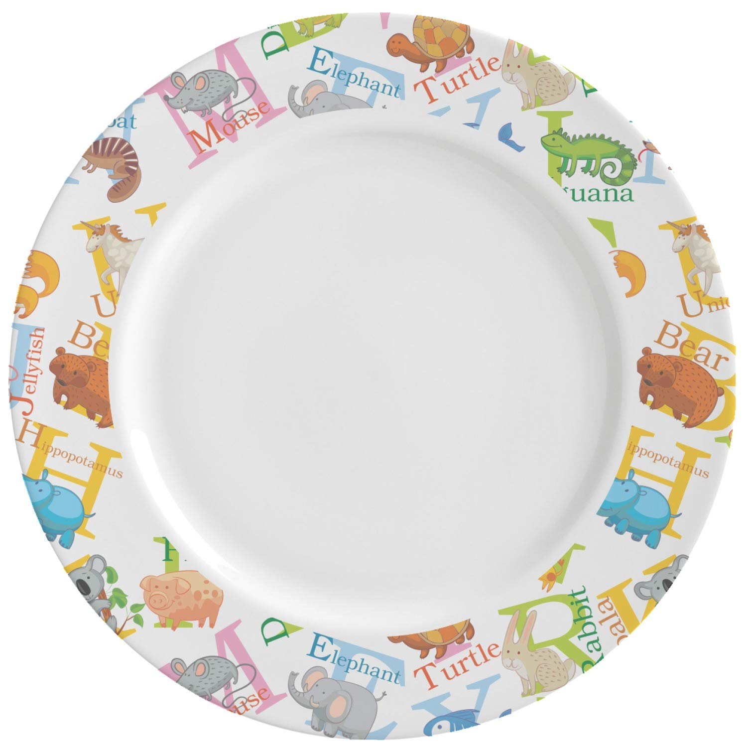 Animal Alphabet Ceramic Dinner Plates (Set of 4) (Personalized)