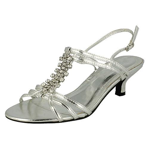 24ba35aeb21 Ladies Spot On Kitten Heel Sandals F1723