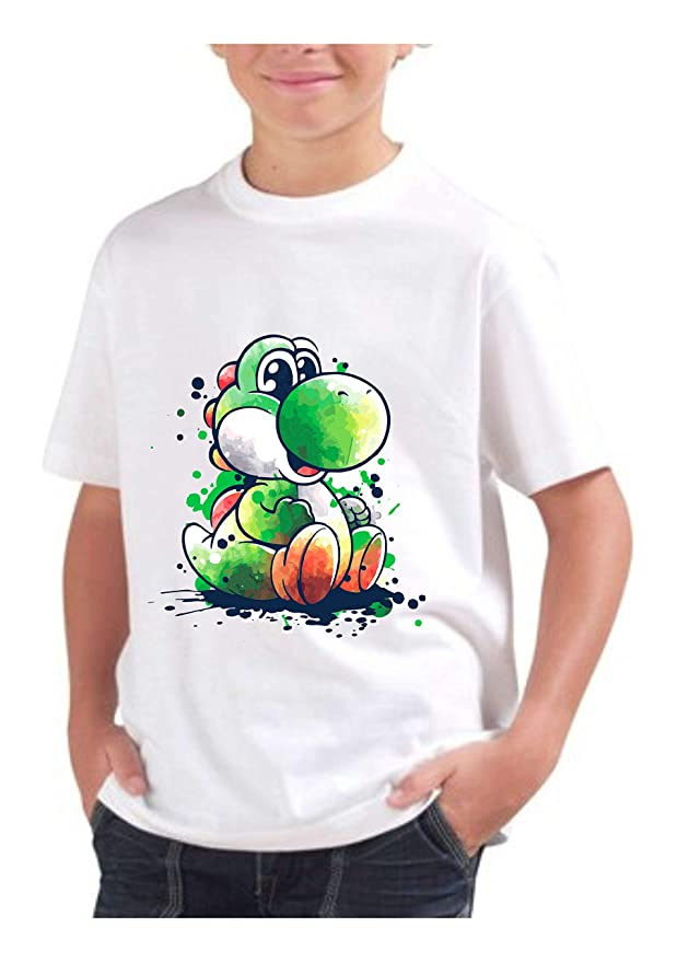 Yoshi - Camiseta para niño de algodón Basic Super Fit Top ...