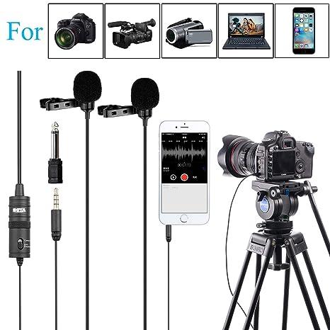 Amazoncom 1574m Boya Dual Head Lavalier Universal Microphone