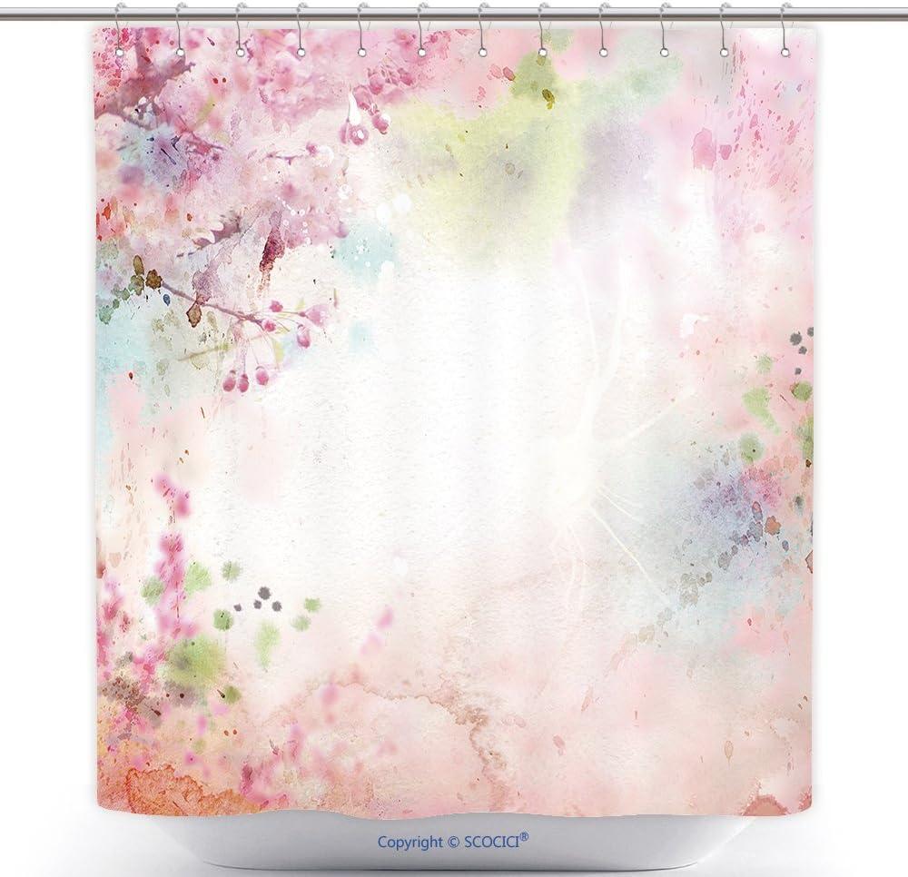 Amazon Com Vanfan Cool Shower Curtains Scenic Watercolor