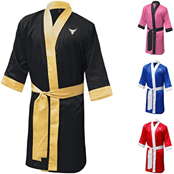 Kickboxing Personalized Gown Material Muay Arts Robe Full Thai Mytra Length Training Fusion Boxing EYD2WH9I