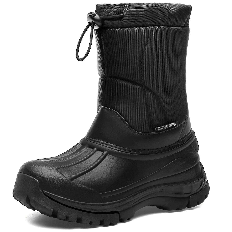 DKTX001-T5-24 Dark Black DREAM KIDS Boys Snow Boots Outdoor Waterproof Cold Weather Winter/Boots/for Girls Toddler//Little Kid//Big Kid