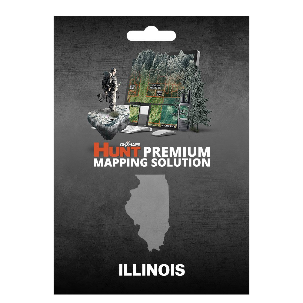 onXmaps HUNT Illinois: Digital Hunting Map For Garmin GPS + Premium Membership For Smartphone and Computer - Color Coded Land Ownership - 24k Topo - Hunting Specific Data