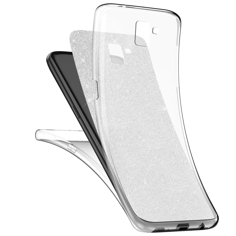 Surakey Galaxy J6 Plus H/ülle,360 Grad Handyh/ülle Vorne und Hinten Full Body Cover Transparent Silikon Schutzh/ülle Crystal Clear Durchsichtige TPU Bumper kompatibel mit Samsung Galaxy J6 Plus