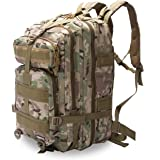 Eyourlife 40L Tactical Backpack ,Sport Military Rucksacks for Outdoor Hiking Camping Trekking Hunting fishing Army Green Black Camouflage Tan