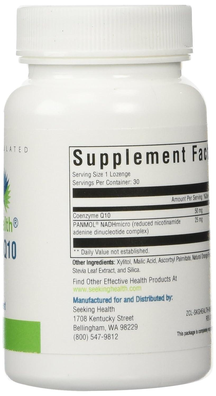 Amazon.com: Seeking Health | NADH + CoQ10 Metabolic Support | 25 mg NADH + 50 mg CoQ10 Supplement | 30 Niacin Lozenges: Health & Personal Care